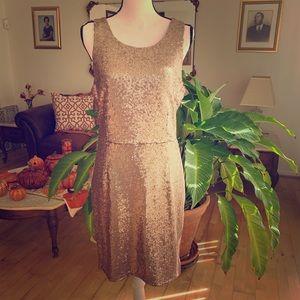 gold sequins dress